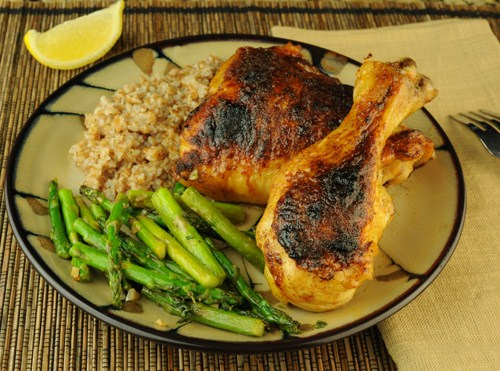 Spiced Chicken with Maple Butter Glaze