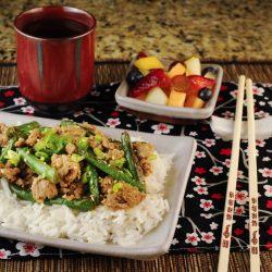 Spicy Szechuan Green Beans and Ground Turkey or Pork