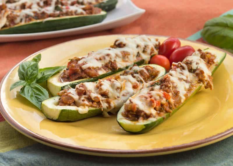 Stuffed Zucchini Gondolas