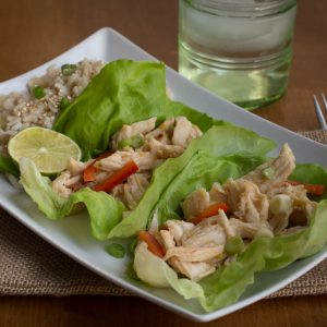 Thai Sweet and Sour Chicken Wraps