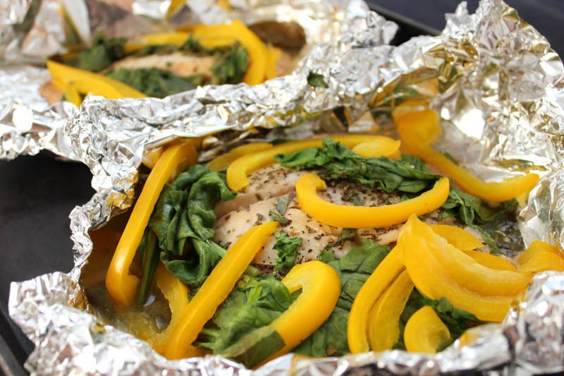 Tilapia Packets with Fresh Herbs and Baby Spinach