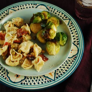 Tortellini with Crisped Bacon and Peas