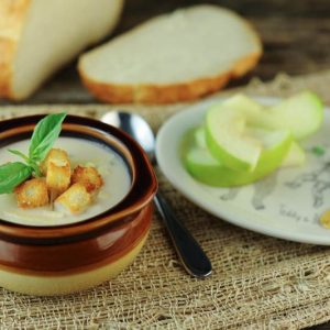 Tuscan White Bean Soup with Sourdough Croutons
