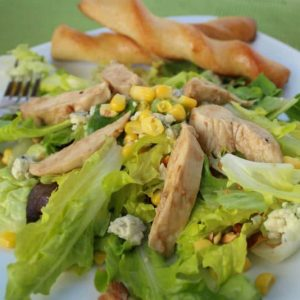 Warm Chicken Salad with Mixed Greens