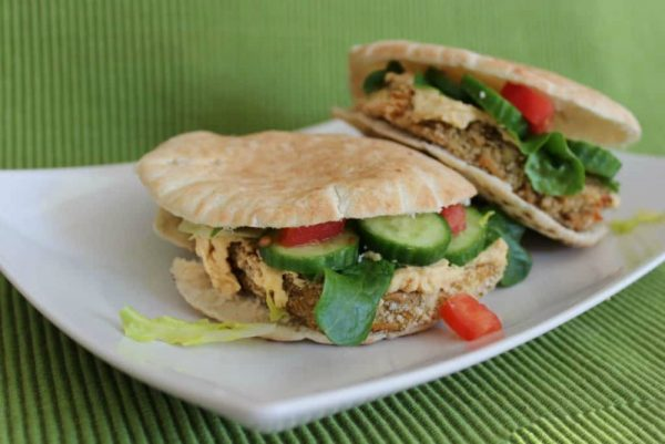 Warm Eggplant Pita Sandwiches