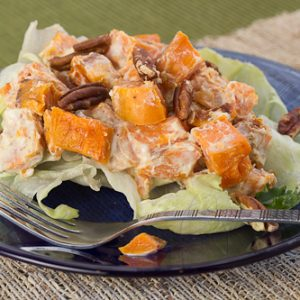 Warm Sweet Potato Salad with Pecans