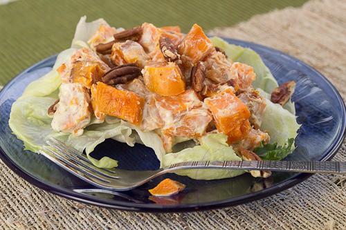 Warm Sweet Potato Salad with Pecans