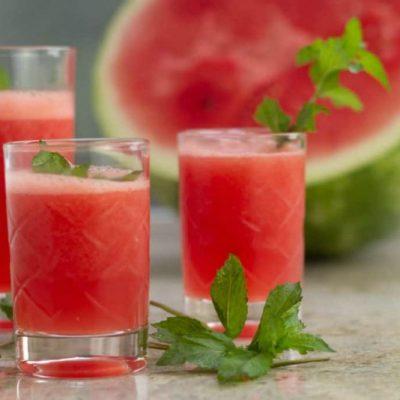 Icy Watermelon Mojitos