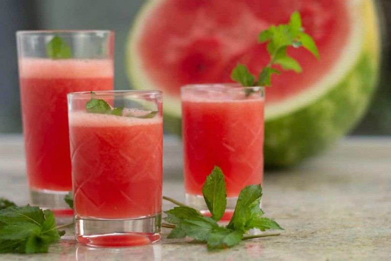 Icy Watermelon Mojitos