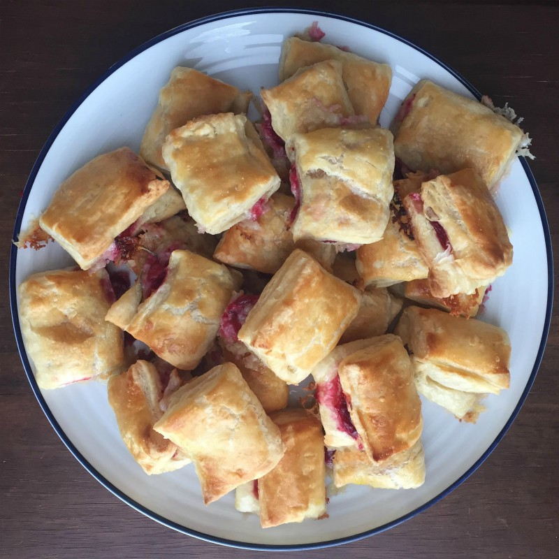 Cranberry and Brie Puffs