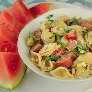 Farmer's Market Pasta with Sweet Corn and Tomatoes
