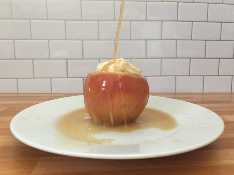 microwave baked apples with syrup
