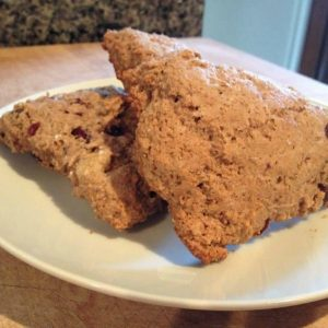 Whole Wheat Cranberry-Walnut Scones