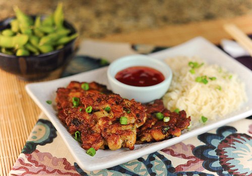 Asian Chicken Fritters