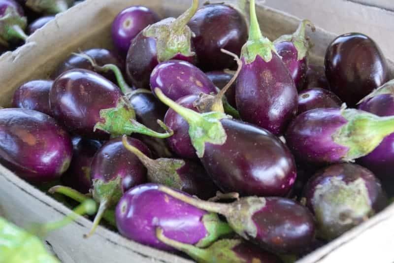 Farmer's Market Baby Eggplants