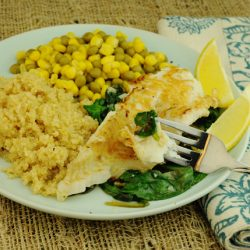 Pan-Fried Tilapia with Baby Spinach KW