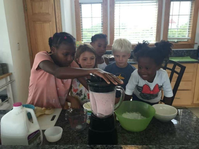Kids Cooking Together