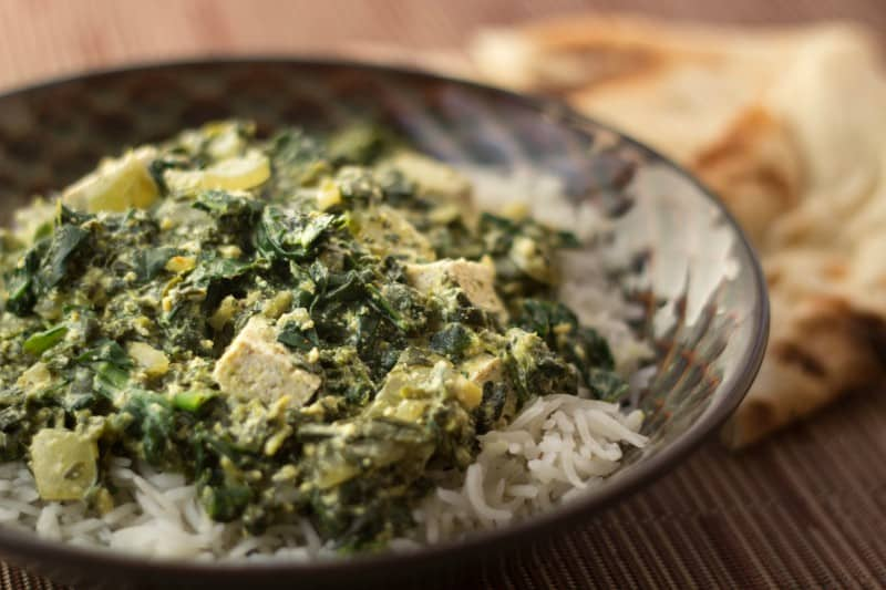 Indian Curry with Spinach and Silken Tofu