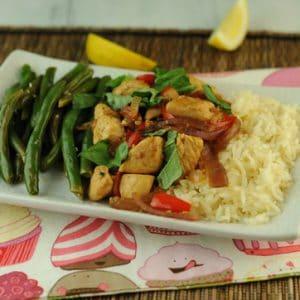 Thai Garlic and Basil Chicken