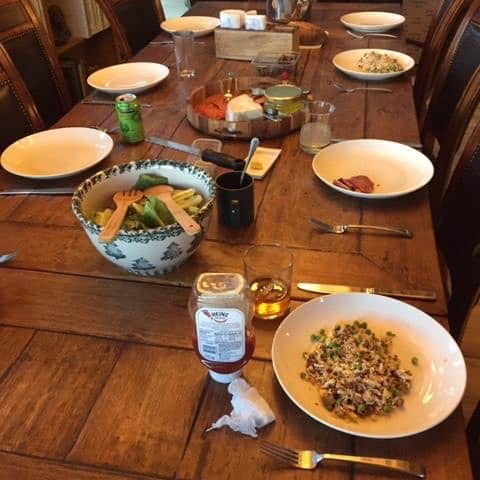 Meal Planning for Family Vacation: Leftovers Night