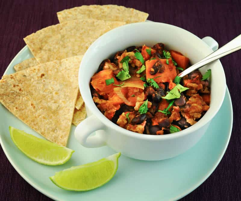 Chipotle Beef, Black Bean, and Sweet Potato Stew