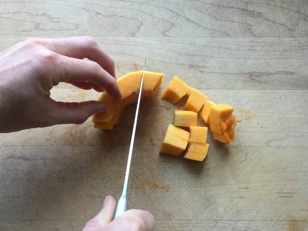 Butternut Squash Semicircle Chopped