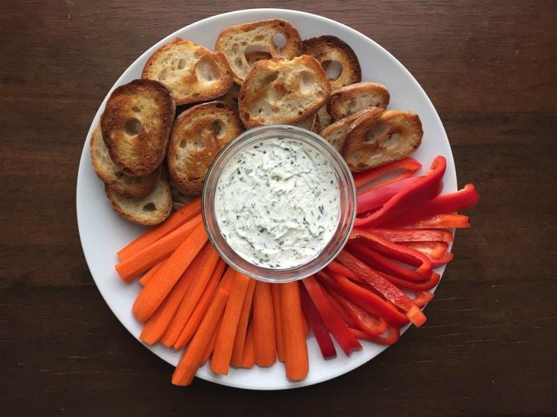 Garlic Herb Goat Cheese Spread