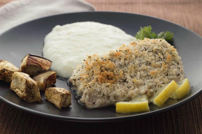 Baked Fish With Lemon Aioli Panko Coating The Scramble