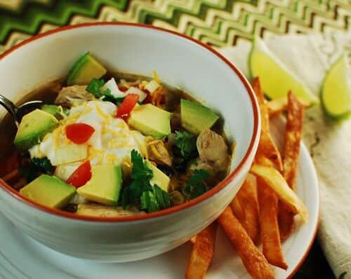 Chicken (or Chicken-Less) Tortilla Soup