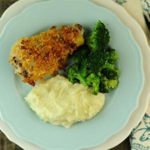 Crispy Oven-Fried Corn Flake Chicken