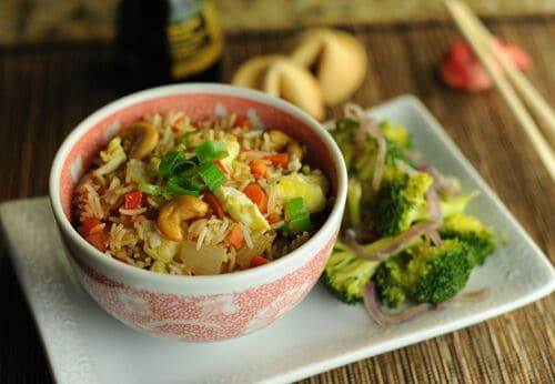 Curry Fried Rice with Cashews