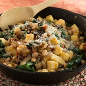 Everything Under the Tuscan Sun (Polenta with White Beans and Spinach)