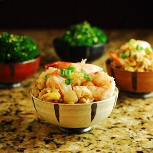 Fried Rice with Shrimp, Tofu, or Chicken