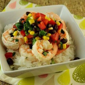 Garlic Lime Shrimp with Black Bean and Corn Salad