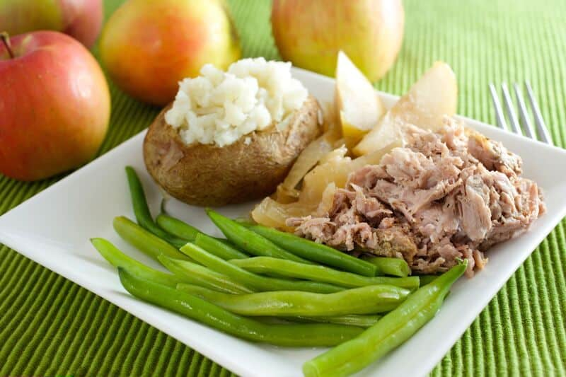 German Pulled Pork with Apples and Sauerkraut