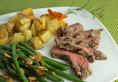 Steak with Rosemary and Dijon
