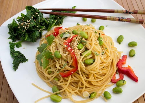 Honey Sesame Spaghetti