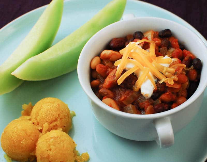 Mighty Meatless Four Bean Chili