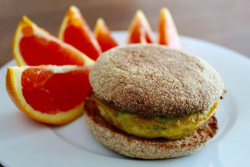 Broccoli-Cheddar Egg Sandwiches