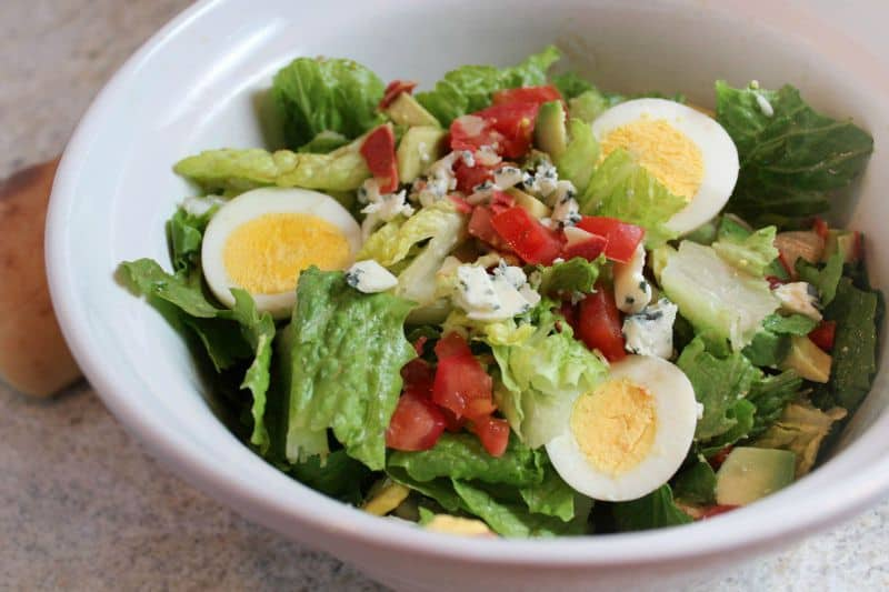 Cobb Salad with Bacon, Avocado, and Blue Cheese
