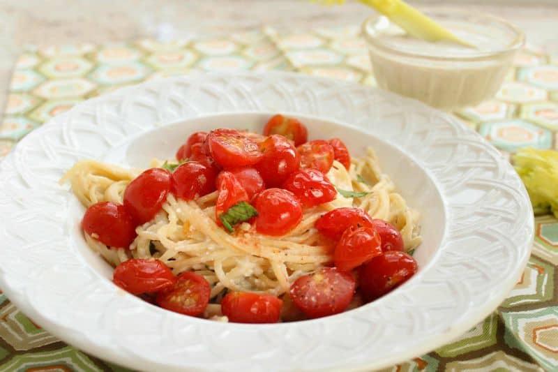 Creamy Ricotta Pasta with Cherry Tomatoes