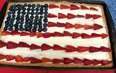 Fourth of July Berry Sweetza Pizza