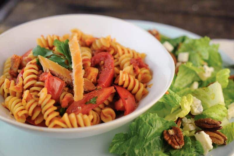 Fusilli with Smoked Trout and Plum Tomatoes