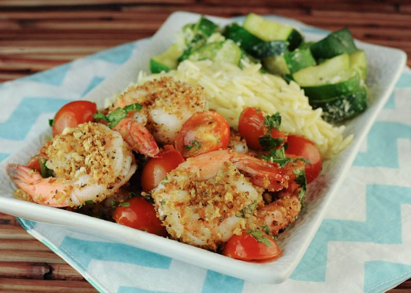 Garlic Crusted Shrimp with Cherry Tomatoes