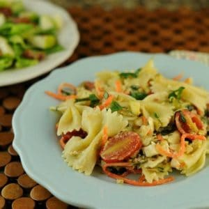 Garlic Herb Farfalle with Carrots and Zucchini
