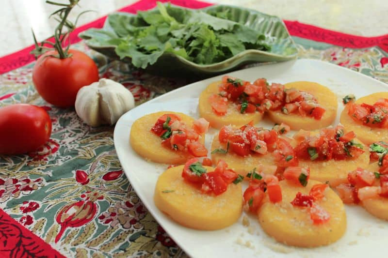 Grilled Italian Polenta with Fresh Tomatoes and Beans