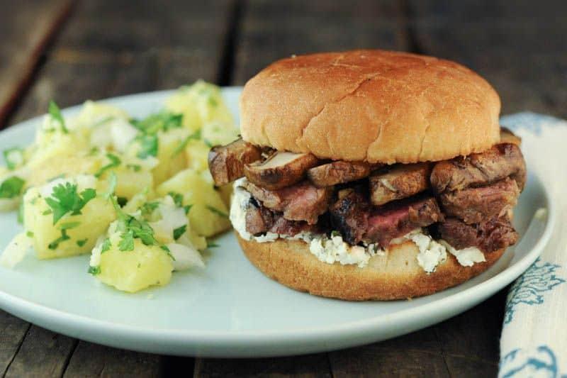 Grilled Steak And Portobello Mushroom Sandwiches The Scramble