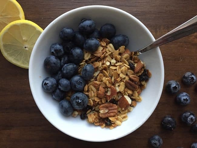 Lemon-Blueberry Granola