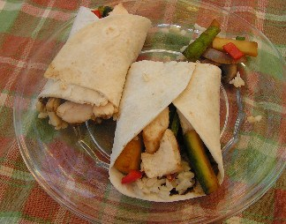 Moo Shu Vegetable Wraps