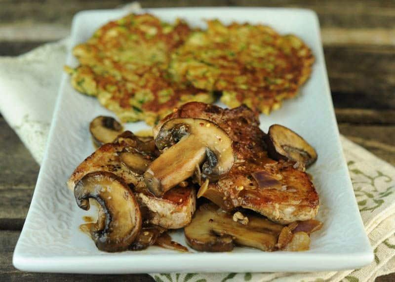 Pork Cutlets with Mushroom Sherry Sauce
